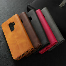 Case Cover for Samsung S8 S9 Plus S7 Edge S6 Magnetic Leather Flip Wallet Phone