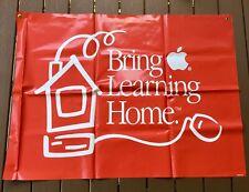 Vintage Apple Computer Banner Bring Learning Home Large Vinyl Sign Advertising