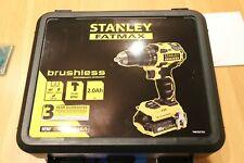 NEW Stanley FatMax BRUSHLESS Cordless Hammer Drill & 2x2.0Ah Batteries FMC627D2