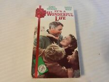 It's a Wonderful Life (VHS, 1991) James Stewart Donna Reed Embossed Box