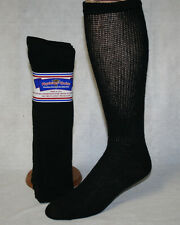 12 PAIRS MENS BLACK PHYSICIAN'S CHOICE OVER THE CALF DIABETIC CREW SOCKS 9-11