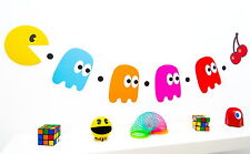 80s Party Decoration - Pacman and Ghosts Bunting -  Pac man - 160cm long