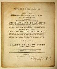 1801 Universität Leipzig Promotionsfeier 1801 Neulatein Eck