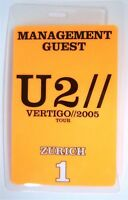 U2 Vertigo 2005 Tour Zurich 1 Orange Backstage Pass New Official Band Merch