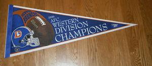 1996 Denver Broncos AFC West Division Champs pennant John Elway Terrell Davis
