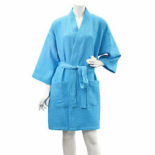 10 PC Women Spa Wedding Bridesmaid Gift Waffle Bath Robe Wholesale Tropical Blue