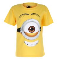 Official Minions Boys - Stuart Face - T-shirt - Yellow - 11-12 Years