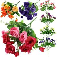Two Toned Lisianthus Bouquet Small - Artificial Flowers Bunch Memorial Funeral