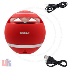 New red mini haut-parleur bluetooth sans fil main-libre pour pc portable mobile uked