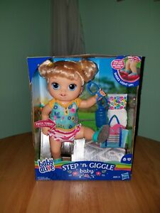 Baby Alive Step n Giggle Blonde Baby Doll Hasbro UNUSED IN UNOPENED BOX