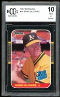 1987 Donruss #46 Mark Mcgwire Rookie Card BGS BCCG 10 Mint+