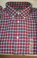 Macy's John Ashford Long-Sleeve Flannel Button-Down Shirt Sz S-M-L-XXL #1109