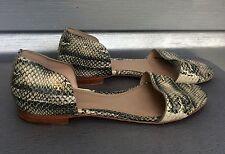 TORY BURCH Savannah Snakeskin Python Sandal Flats SOLD OUT!! $235