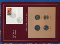 Coin Sets of All Nations Vatican w/card UNC 500, 200,100,50 Lire 1989 21MAR1991