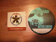 LIMP BIZKIT BACKSTAGE PASS 2003 &PROMO CONDOM 2000 FRED DURST