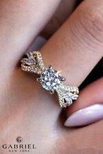 Classic 925 Silver Round Cut White Sapphire Engagement Ring Bridal Jewelry Gift