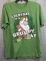 Disney Grumpy Shirt Medium Green Every Day is a Grumpy Day Snow White Dwarfs