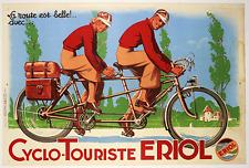 Cyclo-Touriste ERIOL Original Vintage Bicycle Poster