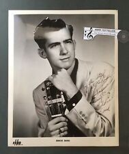 Original 1950's 8 x 10 Publicity Photo Autographed Eddie Bond Rockabilly Country