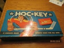 Vintage 1958 Cadaco-Ellis HOC-KEY table-top hockey game With Original Box