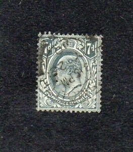 EDWARD VII. 1910. 7d GREY-BLACK. SG No. 249  G.U. cat £22+ (2018).