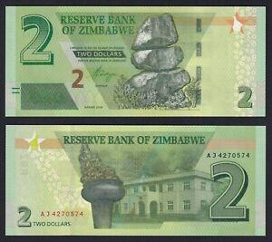 Zimbabwe 2 dollars 2019 FDS/UNC  A-05