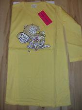 Mädchen Nachthemd / Sleepshirt langarm  Gr. 104 gelb mit Motiv Neu  SA / 17
