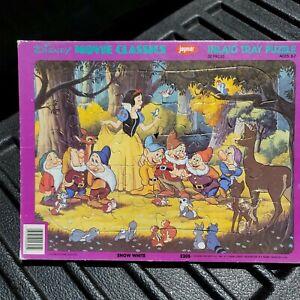 Vintage Jaymar Disney 30 Pcs Puzzles Movie Classics Frame Tray (Snow White)