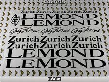 LEMOND ZURICH Stickers Decals Bicycles Bikes Cycles Frames Forks Mountain 61J