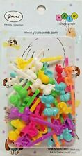 Yours Barrettes Hair MULTI COLOR Bow Ties Girls Pets Toddler Snap Clips 36 Pcs