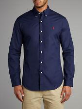Mens Polo Ralph Lauren Slim Fit Long Sleeve Shirts - Denim Medium Wash Small