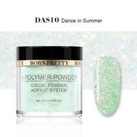 10ml BORN PRETTY Glitter Acrylic Powder Green Dust French Tips Nail Decoration