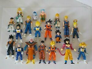 Dragon Ball Z Action Figure Lot of 19 Dated 1996, 2001,02 & 03