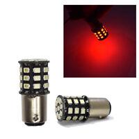 2X  Red 1156 BA15S 27SMD LED Strobe Brake//Stop Bulb Stop Parking Light 12V-24V