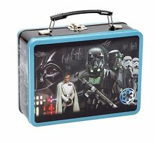 New Star Wars Rogue One Metal Lunch Box Tin Tote Carry-All Vandor Lunchbox Gift