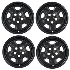 "2007-2017 Jeep PATRIOT 16"" BLACK Wheel Skins Hubcaps Covers Steel Wheels SET"