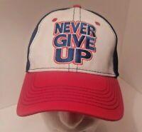 JOHN CENA WWE Authentic White Baseball Hat Cap NEVER GIVE UP HLR Wrestling ball