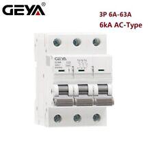 Mcb Ac Circuit Breaker 3Pole 6/10/16/25/32/40/50/63Amp 6kA 400V~ Safety Switch