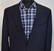 BROOKS BROTHERS 1818 mens navy blue 3btn wool sport coat blazer 45L 45 long L 55