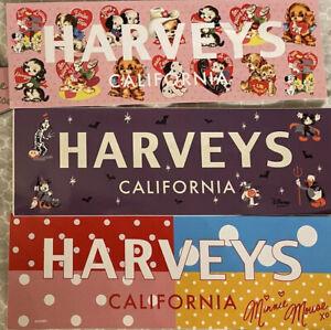 Minnie Mouse Harveys 3 Stickers Puppy Love Halloween Disney