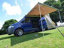 Van Guard Renault Trafic Vauxhall 2 Ulti Roof Bars & Pull Out Awning Kit 2Mx2.5M