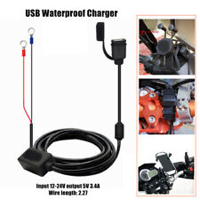 12V-24V Universal USB Waterproof Charger Motorcycle Mobile Phone Charging Cable