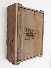 """Vintage Style en Relief """" Chocolat """" Placard Étagère avec Porte Cageot Rangement"""