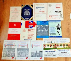 Police Rugby Union Programmes 1948 - 1997