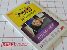 "3M Post-it Picture Paper 4"" x 6"" High Gloss (15) Photo Inkjet Instant Dry MM-552"