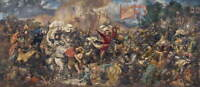 Jan Matejko The Battle of Grunwald Poster Reproduction Giclee Canvas Print