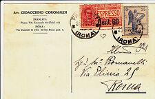 VITTORIA 25c+60 su 50c ESP-Cartolina Frascati->Roma 21.5.1922-Firm. Diena