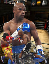 Lithograph print of Floyd Mayweather