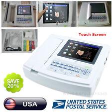 US FDA ECG1200G Digital 12 channel/lead ECG+PC Sync software, Electrocardiograph