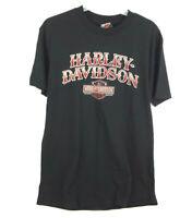 Harley Davidson Motorcycles Men's Large T-Shirt Black Bloomington, IN